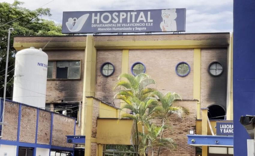 Corto circuito en equipo biomédico habría causado voraz incendio en el Hospital Departamental de Villavicencio